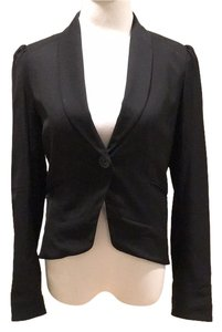 Comptoir des Cotonniers French Tailoring Tapered Black Blazer