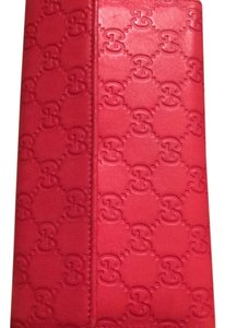 Red Leather GG Guccissima Logo Clutch Wallet 347112-2149
