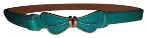 Other Butterfly Enamel Skinny Leather Belt