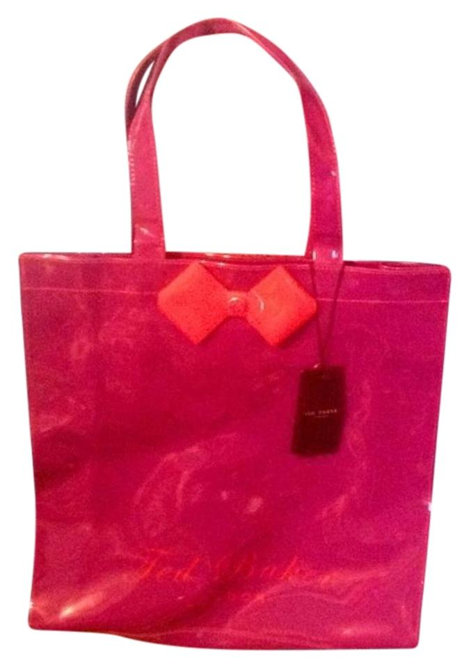 d5c8f7ceaef Ted Baker Bow Shopping Plastic Tote in Purple and red Image 0 ...