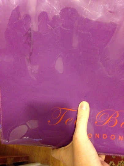 Ted Baker Bow Shopping Plastic Tote in Purple and red