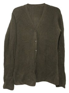 Prada V-neck Button Down Sweater Olive Cardigan