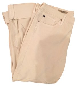 AG Adriano Goldschmied Straight Pants Cream