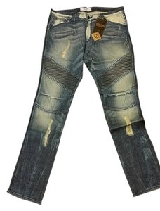 Golden denim Mens Skinny Jeans-Distressed