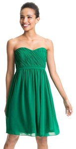 Donna Morgan Interior Chiffon Strapless Sweetheart Empire Waist Dress