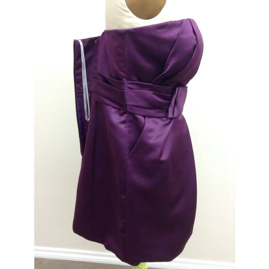 Enzoani Eggplant Thick Satin D18 Love Formal Bridesmaid/Mob Dress Size 16 (XL, Plus 0x)