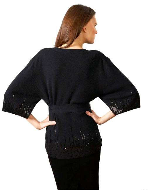 Valentino Sequin Cashmere Cocktail V-neck Evening Sweater