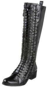 Pour La Victoire New Tall Leather Black Boots