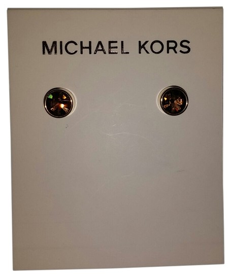 Preload https://item5.tradesy.com/images/michael-kors-gold-goldtone-mk-brown-smoky-crystal-earrings-10559539-0-3.jpg?width=440&height=440