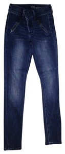 New York & Company High Waist Legging Soho Skinny Jeans-Dark Rinse