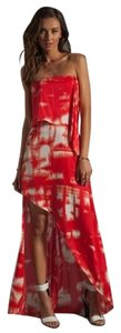 Red And White Maxi Dress by BCBG