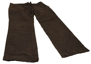 Anthropologie Sailor Linen Detail High Quality Good Condition Size 12 Wide Leg Pants Dark Gray, Graphite,