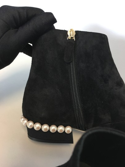 Chanel Pearl Suede Classics Black Boots Image 5
