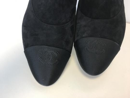 Chanel Pearl Suede Classics Black Boots Image 7