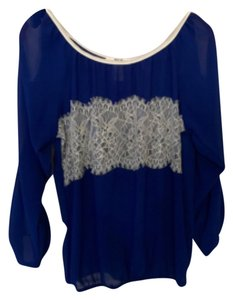 Pulis Top Royal blue and white