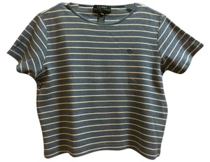 Ralph Lauren Cotton Casual Comfortable T Shirt Blue and White stripes