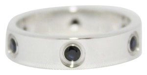 Cartier LIMITED EDITION CARTIER 6 BLACK SAPPHIRE 18KT GOLD LOVE BAND, MENS SIZE 61. VERY RARE. Made in FRANCE