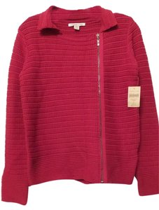Coldwater Creek Cotton Asymmetrical Zip New Sweater