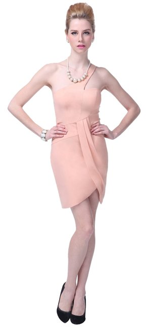Preload https://item3.tradesy.com/images/pink-asymmetrical-one-shoulder-fashionista-satin-knee-length-cocktail-dress-size-8-m-10560442-0-1.jpg?width=400&height=650