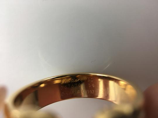 Cartier LIMITED EDITION CARTIER 18K Tri-GOLD, DOUBLE 'C' RING with DIAMONDS