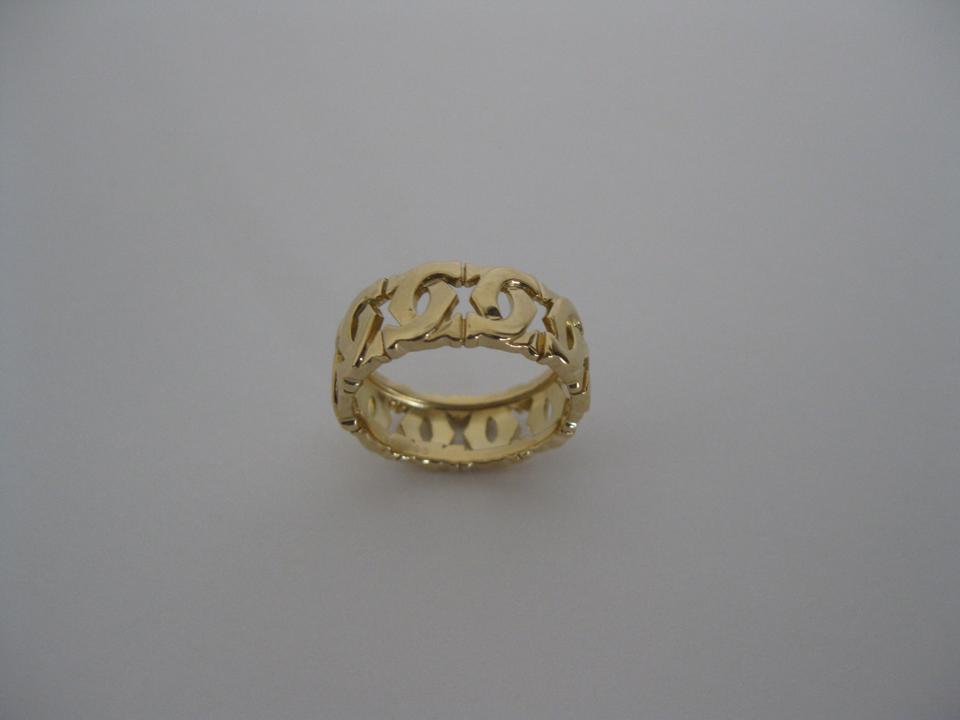 Cartier 18k Yellow Gold C Motif Wedding Ring Size 58 Made In France Tradesy