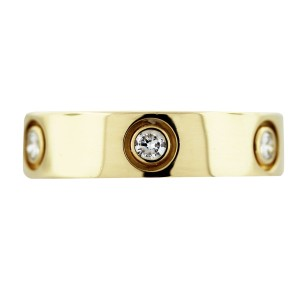 Cartier Cartier 18k Yellow Gold With 6 Diamonds 'love' Wedding Band. Size 61 Eur. Made In France