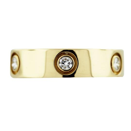 Cartier 18 K Gold and 6 Diamonds Love Ring. Certificate. Men's Wedding Band