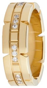 Cartier CARTIER* TANK FRANAISE WEDDING BAND 18K YELLOW GOLD With DIAMONDS. Size 50 Euro . Made in FRANCE