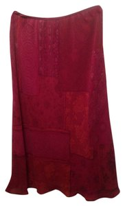 Jones New York Skirt Burgundy