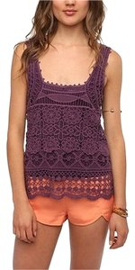 Pins and Needles Urban Outfitters Uo Crochet Boho Bohemian Summer Festivals Top Plum