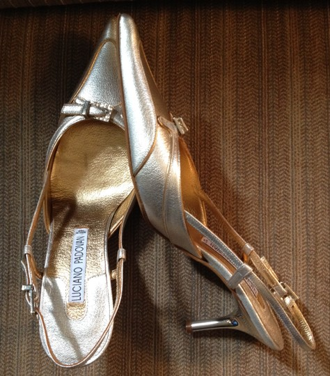 Luciano Padovan Rhinestones Italy Silver and Gold Formal