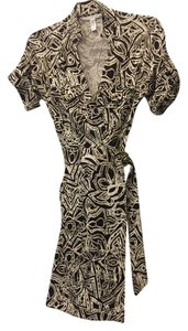 Diane von Furstenberg short dress Brown Dvf Wrap Print on Tradesy
