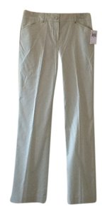 Tahari Straight Pants Key lime/ white