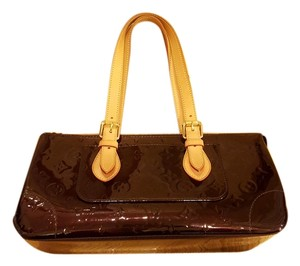 Louis Vuitton Lv Rosewood Vernis Vernis Vernis Rosewood Patent Leather Shoulder Bag