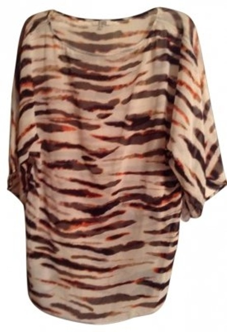 Preload https://img-static.tradesy.com/item/105631/bb-dakota-burnt-orange-brown-cream-animal-stripe-tunic-size-2-xs-0-0-650-650.jpg