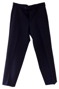 Prada MEN'S BLACK TUXEDO PANTS