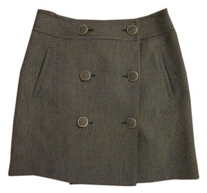 Ann Taylor LOFT The Mini Skirt Green, White, Black