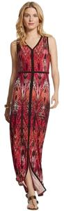 Red print Maxi Dress by Chico's Size 2