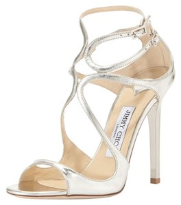 Jimmy Choo Lance Silver Sandals