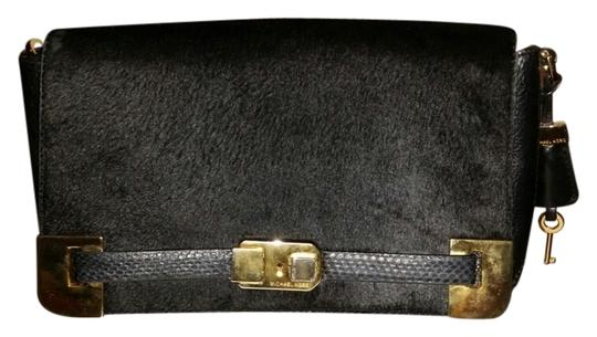 Preload https://item2.tradesy.com/images/michael-kors-black-calf-hair-and-leather-and-python-clutch-10563886-0-5.jpg?width=440&height=440