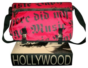 L.A.M.B. Gwen Stefani Lesportsac Vintage Laptop Case Red & Black Messenger Bag