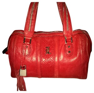 L.A.M.B. Gwen Stefani Leather Rare Vintage Roma Satchel in Red