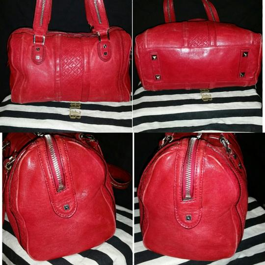 L.A.M.B. Gwen Stefani Leather Rare Vintage Roma Purse Satchel in Red