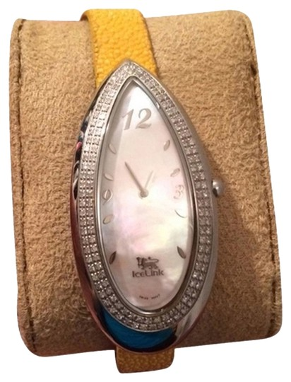 Preload https://item5.tradesy.com/images/silver-ice-link-with-diamonds-watch-1056484-0-0.jpg?width=440&height=440