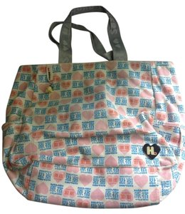 Harajuku Lovers Tote in Cream, Pink, Blue