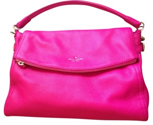 Kate Spade Leather Purse Designer Minka Satchel in Fusha Pink