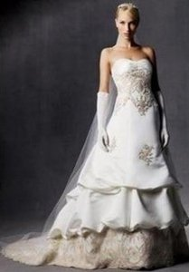 Oleg Cassini Davids Bridal Ce239 Wedding Dress