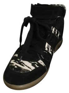 Isabel Marant Boot Sneaker Black and white Wedges