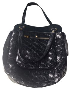 Gryson for Target Black Patent Leather Black Patent Leather Shoulder Bag