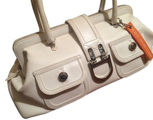 Dior Leather Summer Satchel in white